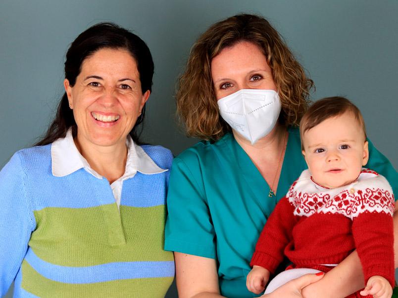 María, Miguel und Dr. Esther Marban Tambre